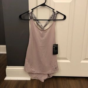 ❌SOLD❌Nike Elastika Strappy Tank Top Pink Grey